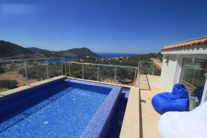 Kalkan, Full sea view duplex with high rental income